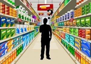 silueta enfrentandose a decisión de compra