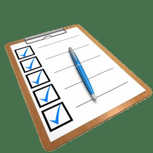 logo de formulario con check en color azul