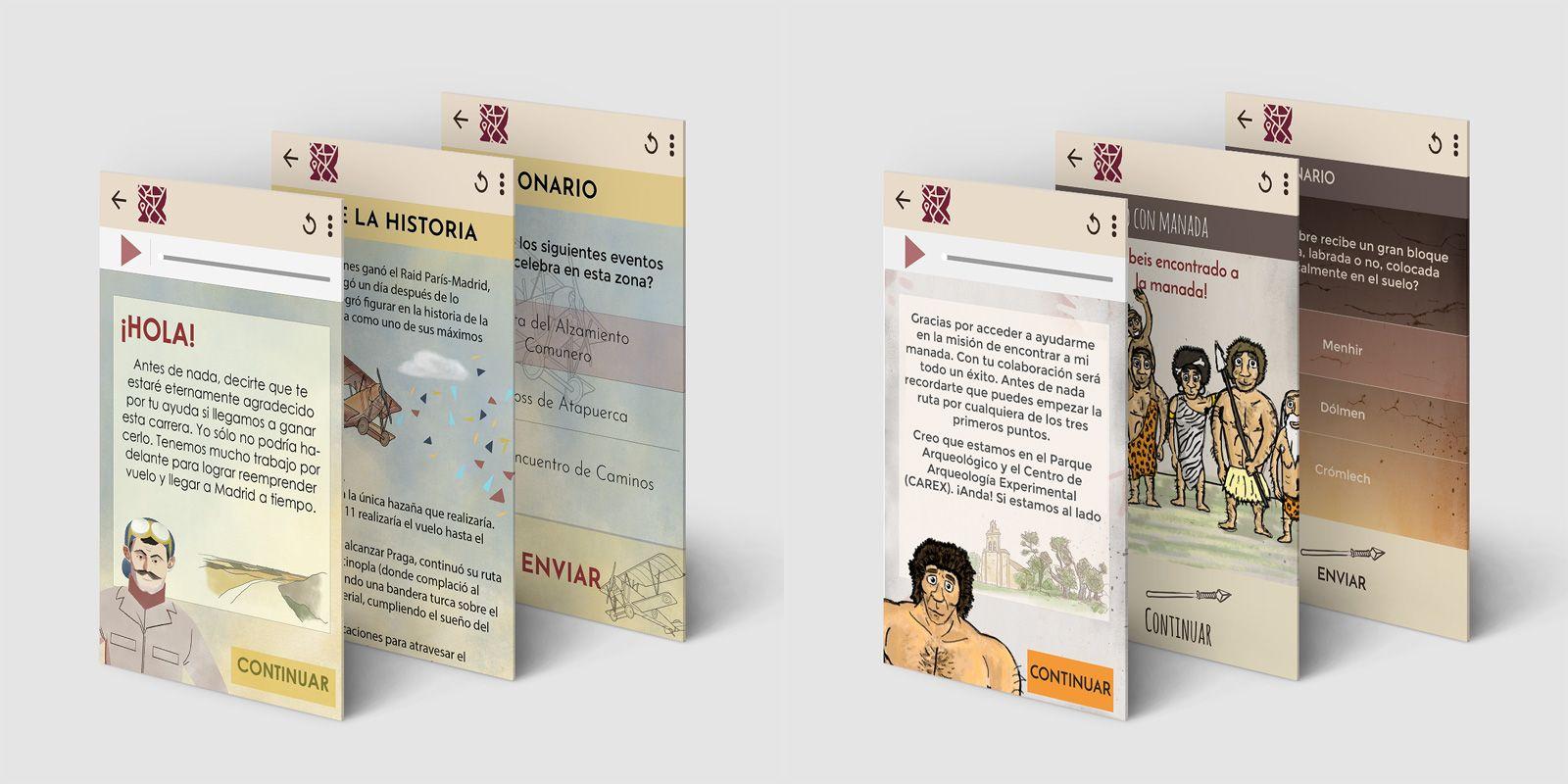 montaje de imágenes de la app de gamificación de Ataquintagame