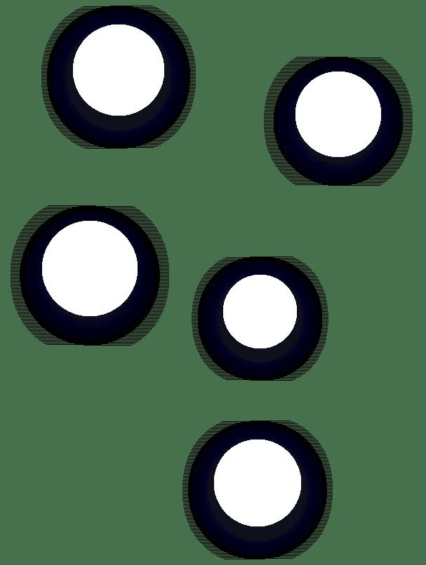 conjunto de puntos de diversos colores