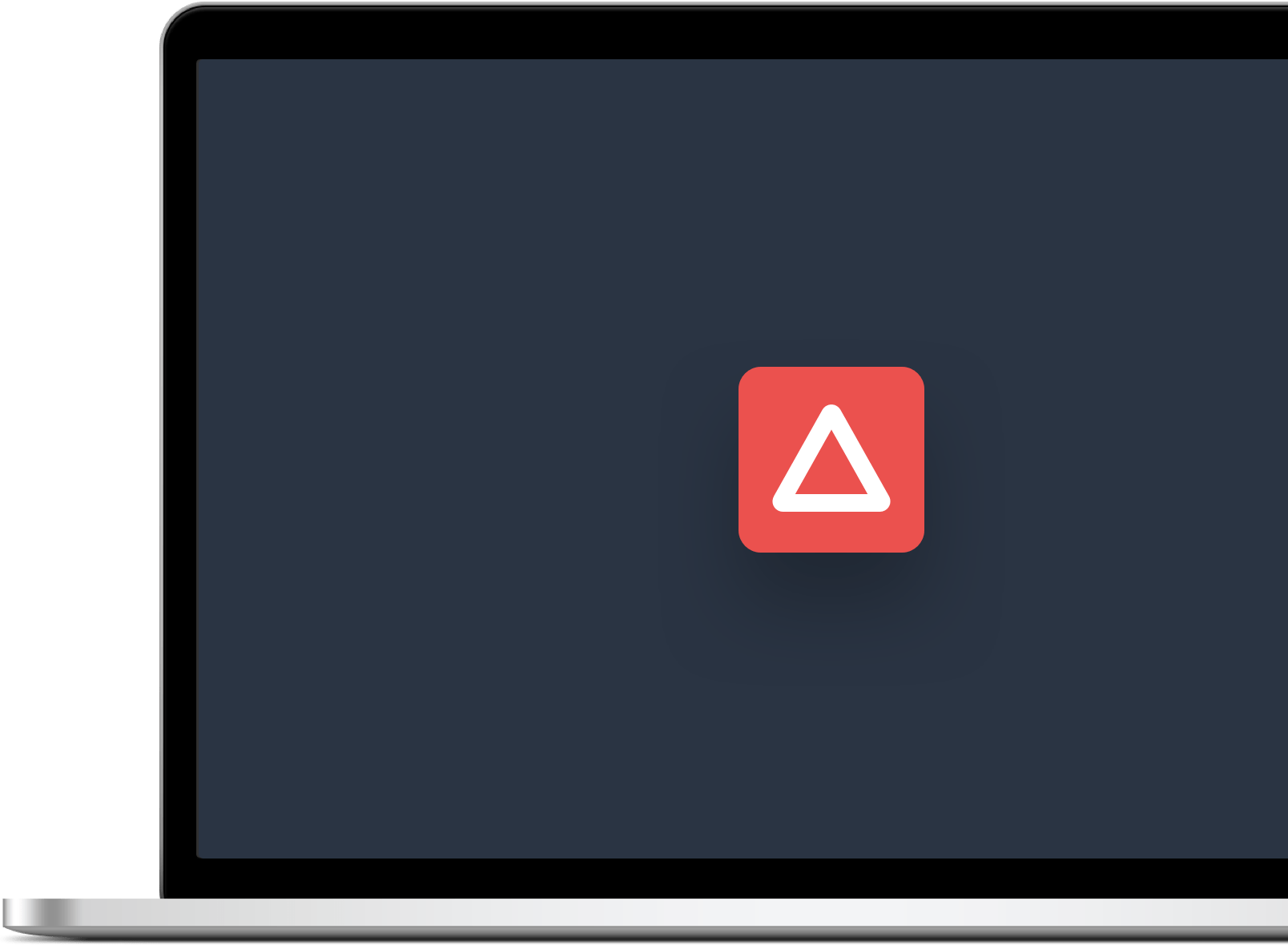 portátil con un diseño cargado en la pantalla