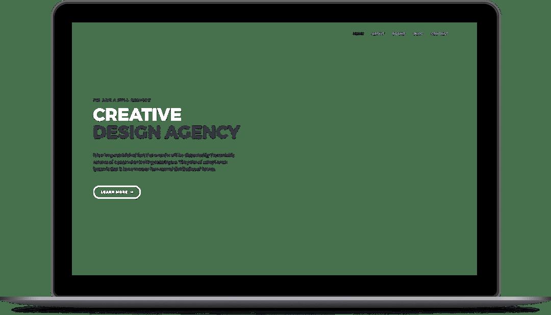ordenador portatil con diseño de una web